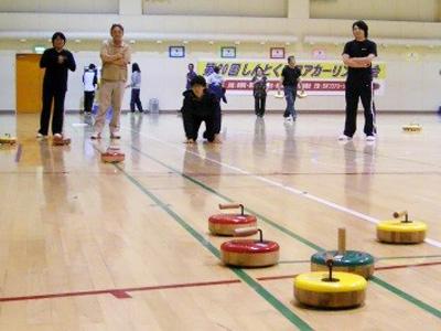 フロアカーリング大会参加/運営2(屈足わかふじ園)