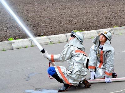 消防団活動2(屈足わかふじ園)